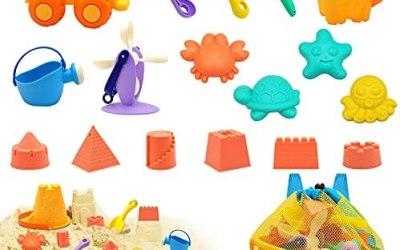 Euyecety Giocattoli da Spiaggia per Bambini, Giochi Spiaggia 18 Pezzi Set…
