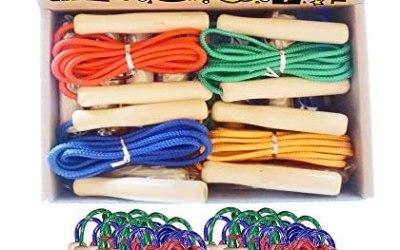 Partituki Pack di 12 Corde per Saltare. Corde per Saltare con Manico in…