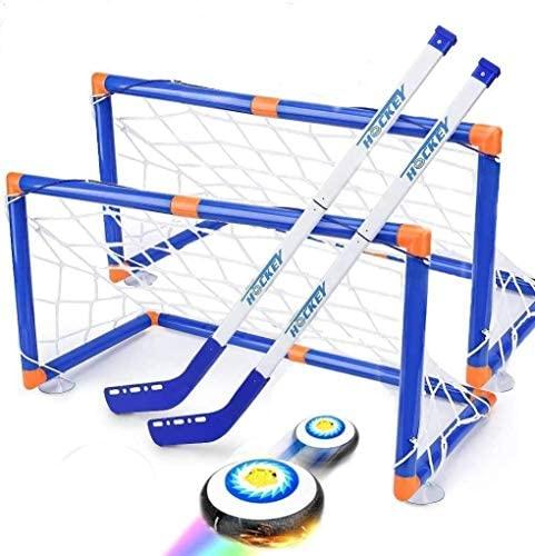 Wuudi Hover Set da Hockey, Hovering Hockey Game con 2 Goals e Pallone da...