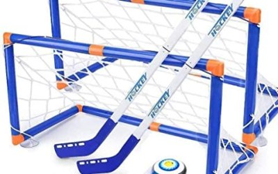 Wuudi Hover Set da Hockey, Hovering Hockey Game con 2 Goals e Pallone da…