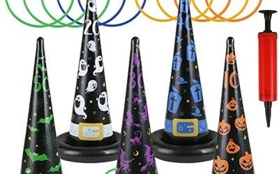 LEMESO 16 pz Gioco di Lancio per Halloween Kit Cappelli della Strega…