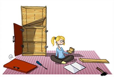 """Résultat de recherche d'images pour """"meuble ikea à monter"""""""
