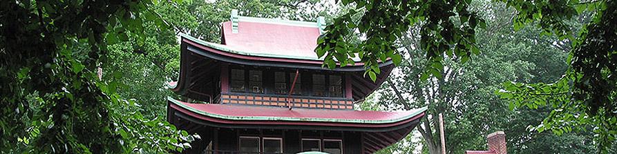 Pagoda at Save our Seminary