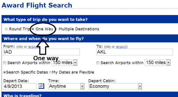Search for one way flights when looking for availability