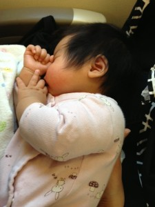 A lap infant at 3 months is much easier than 23 months, in my opinion!