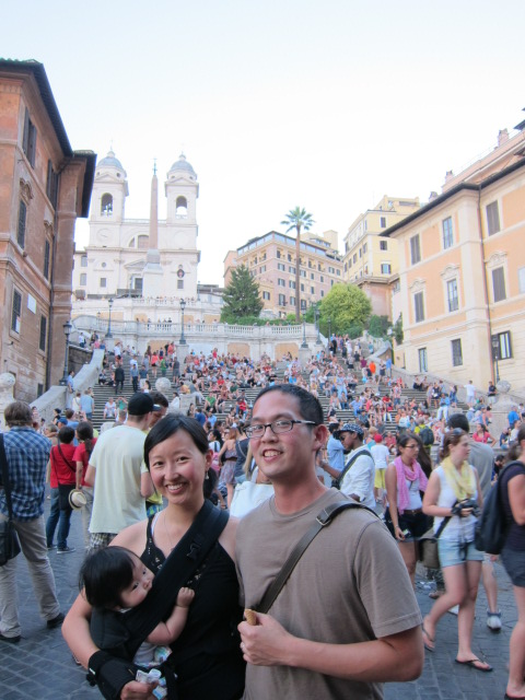Family picture at the Spanish Steps