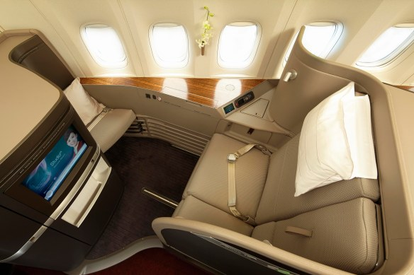 There are only six first class seats per flight on Cathay Pacific...and we snagged two of them!