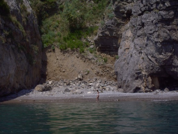 Renting a boat in Amalfi was amazing - Jess just swam over to her own private beach (thanks again, sis!)