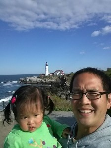 Portland Maine Fort Williams Park Portland Head Dad and Baby