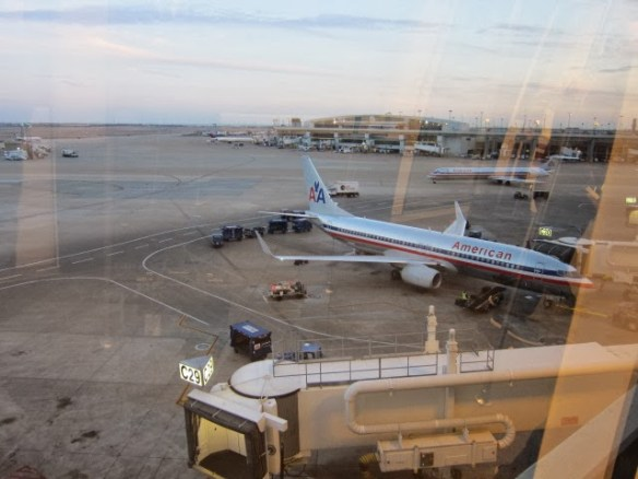 Our plane at DFW