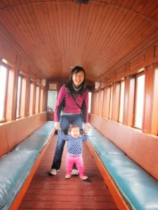 Inside Maine Narrow Gauge Train ride