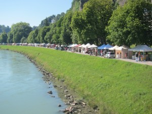 There are plenty of souvenirs for sale at Salzburg's weekend market