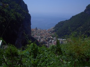 On our way down to Amalfi after hiking from Praiano - 5 (!) years ago