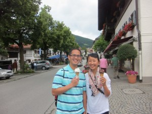 Parents are also useful as distractions during gelato procurement