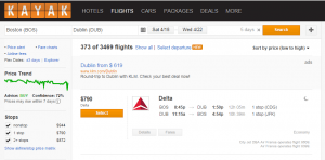 The cheapest flight was over $300 cheaper a few days ago!
