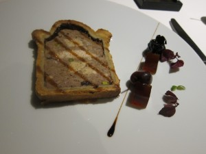 Chicken pate with foie gras and black cherry jam