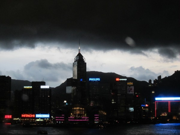 This wasn't at Tung Chung obviously, but a picture of how ominous the clouds can get in Hong Kong (2010)
