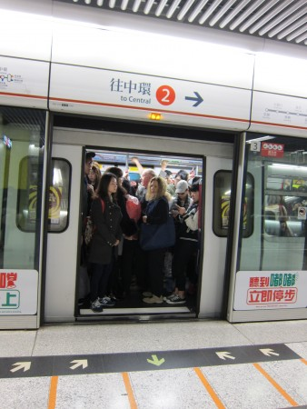 The MTR was this crowded at 10 AM!