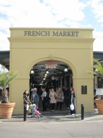 The French Market seems like it would be super crowded during lunch time
