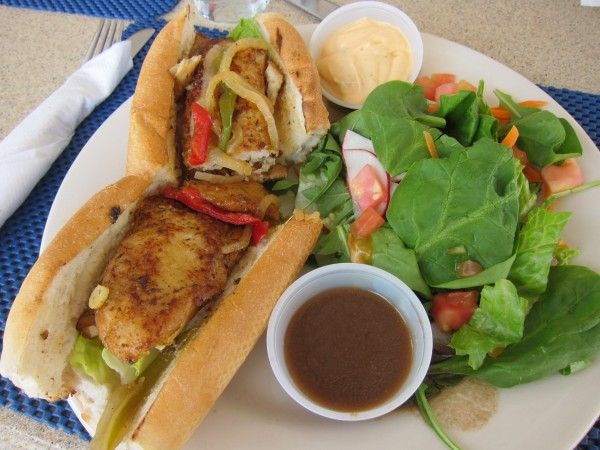 Seaside Cafe Fish Sandwich - pretty good