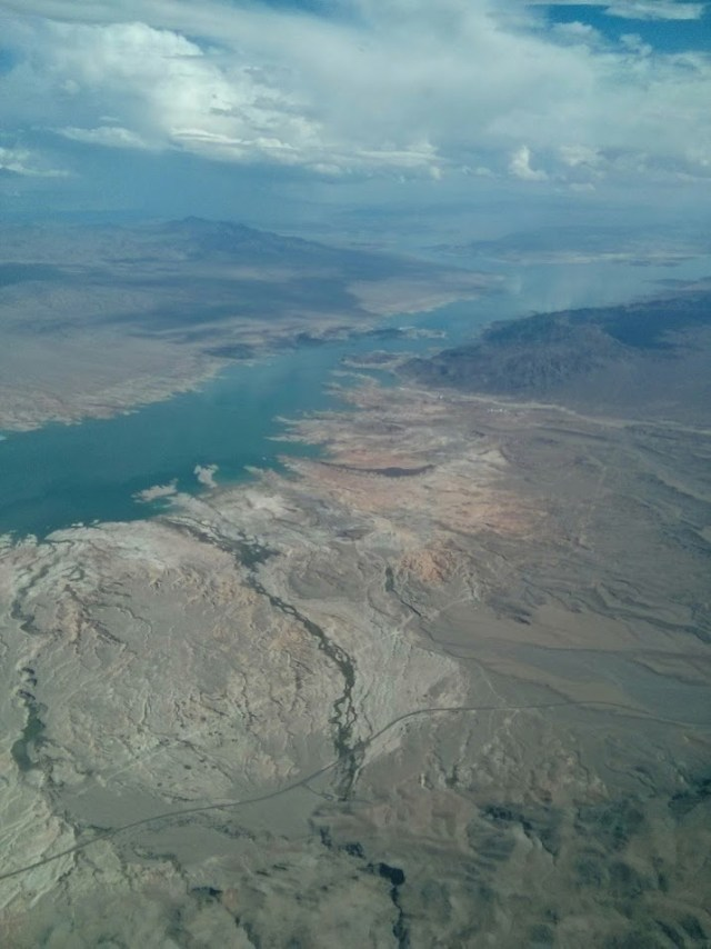 Lake Mead from the air (I think)