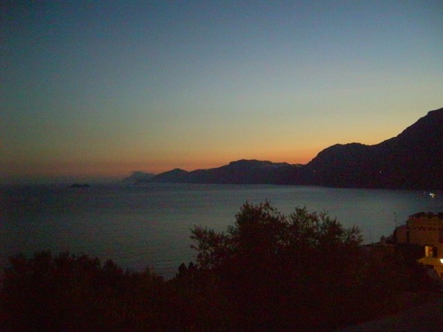 The view from Praiano at dusk