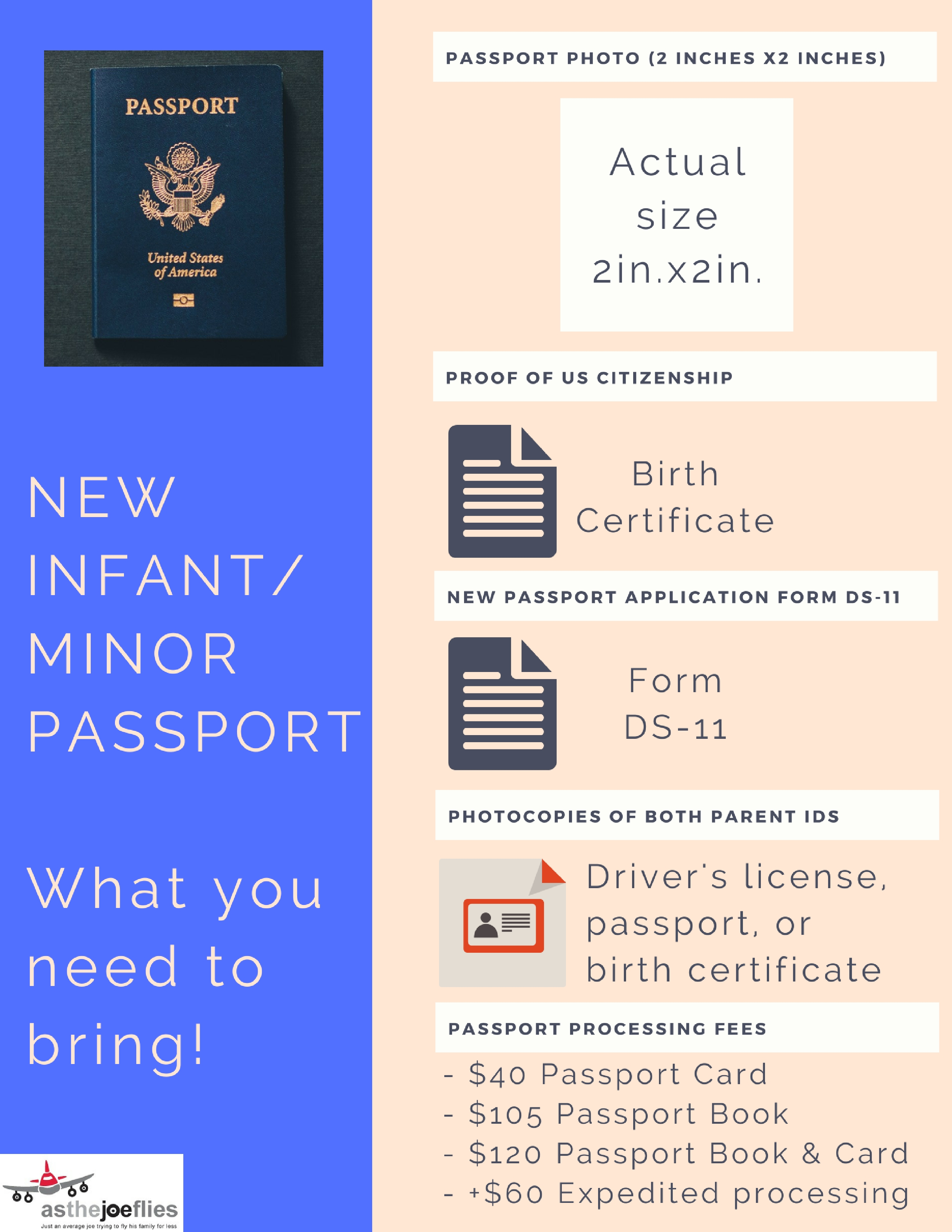 Applying for an infant passport is easy. Follow this simple step by step guide to get a passport for any minor. Includes checklist of everything you need!