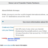 AMEX to British Airways transfer bonus is back!