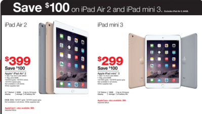 4-12-15 Staples $20 off $100 online (today only) plus 9x miles – Dell 22inch monitor $80 – Ipad resale deals