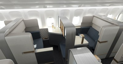 The difference between Business and First Class is not the seat