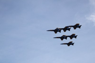 The Blue Angel's Show at the US Naval Academy, Annapolis, Maryland