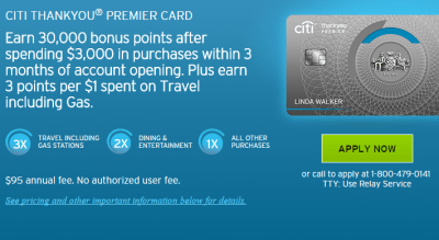 Which Citi Thank You cards offer a travel uplift?