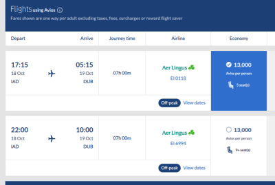 Booking United With Avios: Bug or Feature?