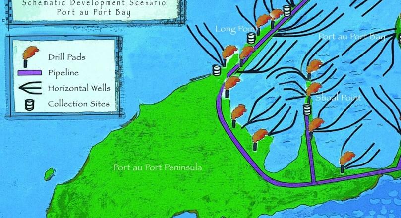 The map shows Port au Port Bay