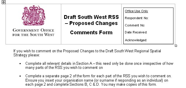 RSS Comments Form - download yours and fill in today!
