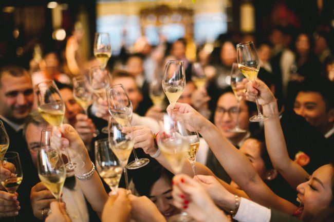 Champagne at an event, Photo by Jeremy Wong on Unsplash