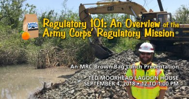 September 4 2018 Brown Bag Lunch: Army Corps of Engineers