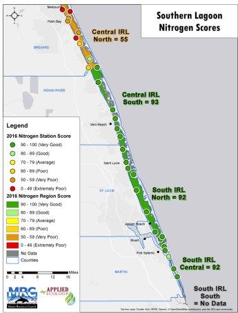 2016 Nitrogen Scores South Map