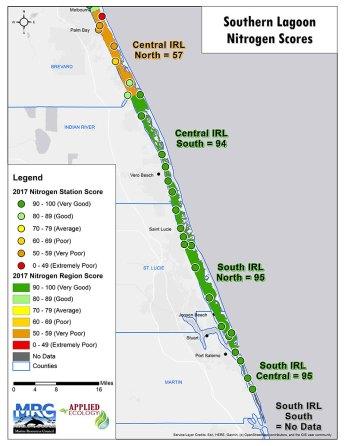 Nitrogen Scores South Map
