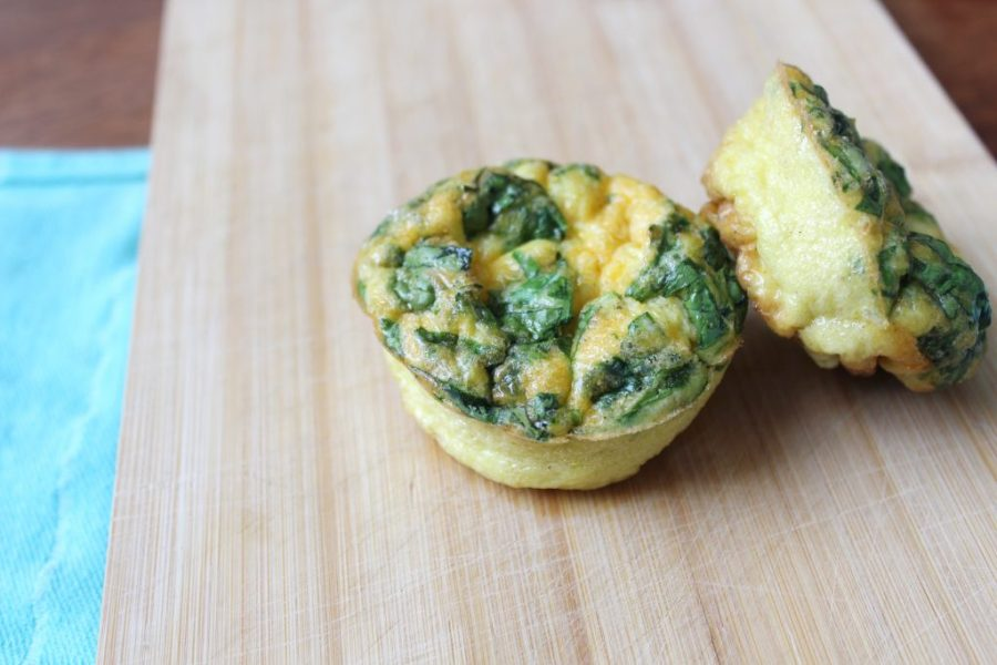 ei muffin met spinazie