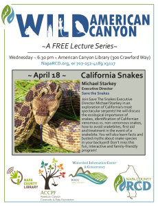 california, snakes, education