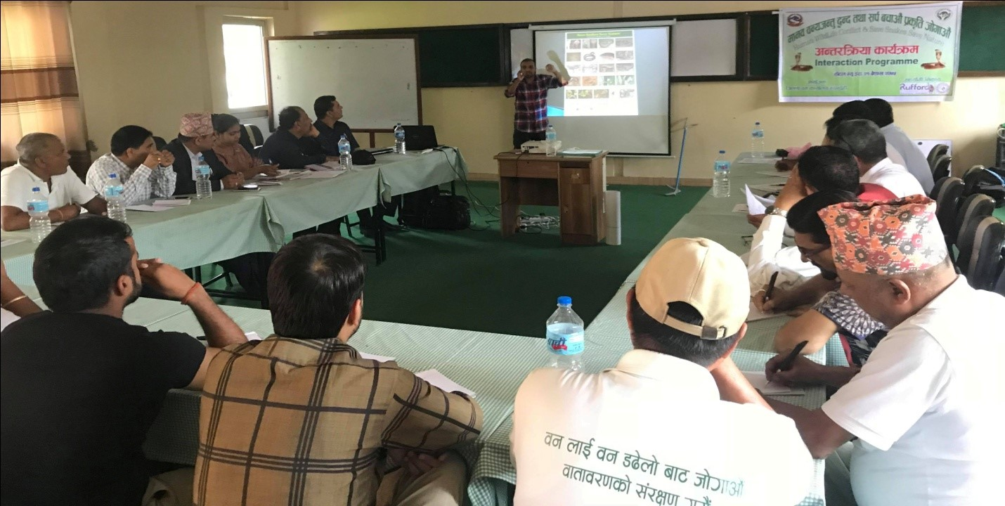"""Kamal informing and discussing his current work """"Save Snakes Save Nature"""""""