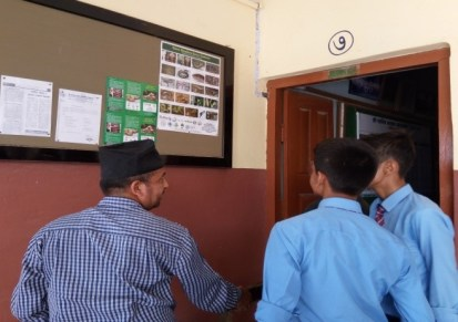 Brochures and Posters on the notice board of schools 1