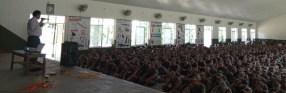 Dr. Chhabilal Thapa giving a speech on snakebite management in Nepal