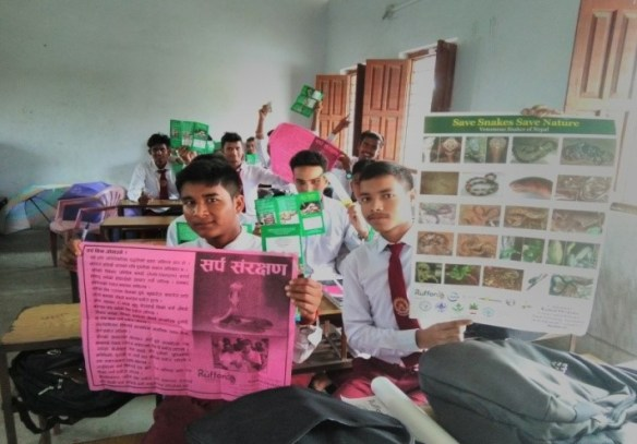 Students of various schools receiving different educational material after the awareness programs 1