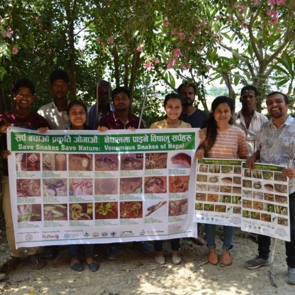 After the program at Lumbini Sanskritik Municipality, Green Youth Lumbini as Snake Information Centre