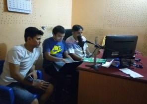 Editing the Radio PSA for broadcasting from Khasyauli F.M.
