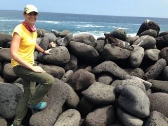 Jen Moore rocky shore
