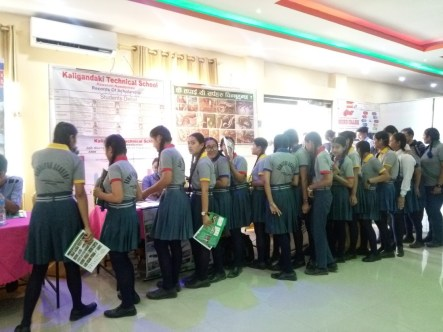 Students visiting our stall 2
