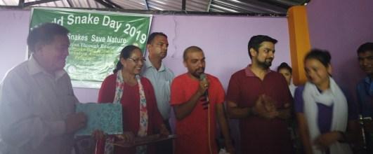 Mr. Kamal Devkota announcing the finalist name